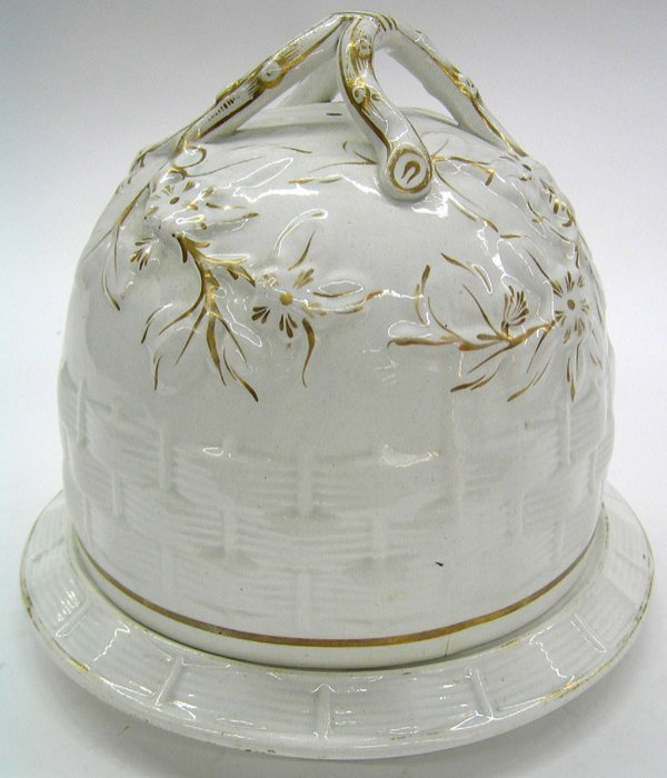 22: English pottery cheese dome