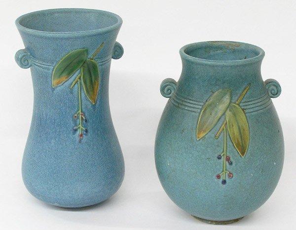 23: Weller Pottery vases Cornish