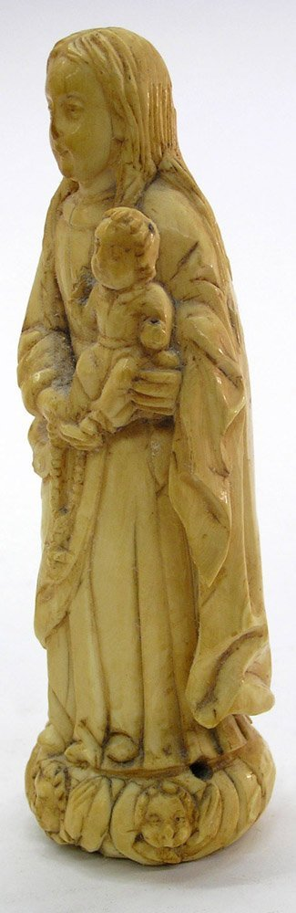 24: Carved ivory figure Virgin Mary