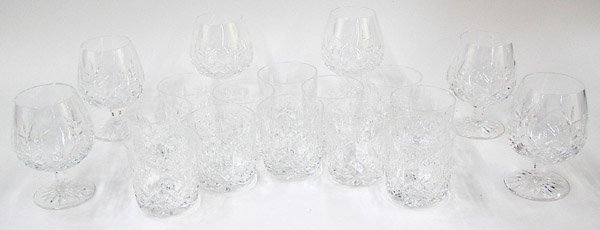 2080: Waterford cut crystal brandy tumblers