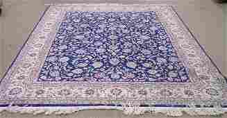 2117 Persian part silk Kashan rug carpet