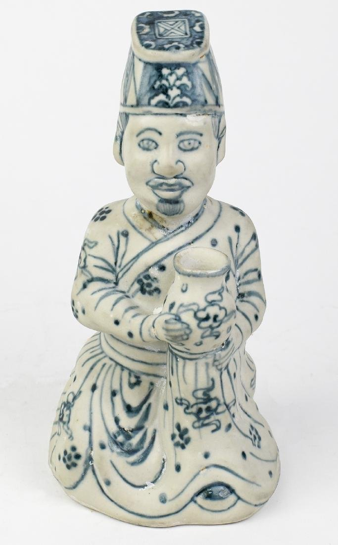 Vietnamese Chudau-style Blue-and-White Figure