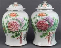 Chinese Porcelain Jars Peonies