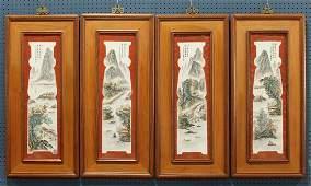 Chinese Porcelain Plaques, Landscape