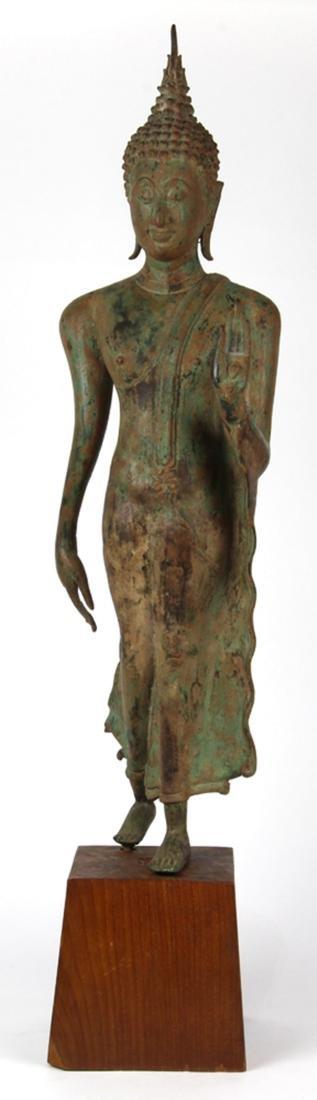 Thai Sukhothai-style Bronze Buddha