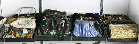 (lot of 36) Ladies evening handbag group, consisting of