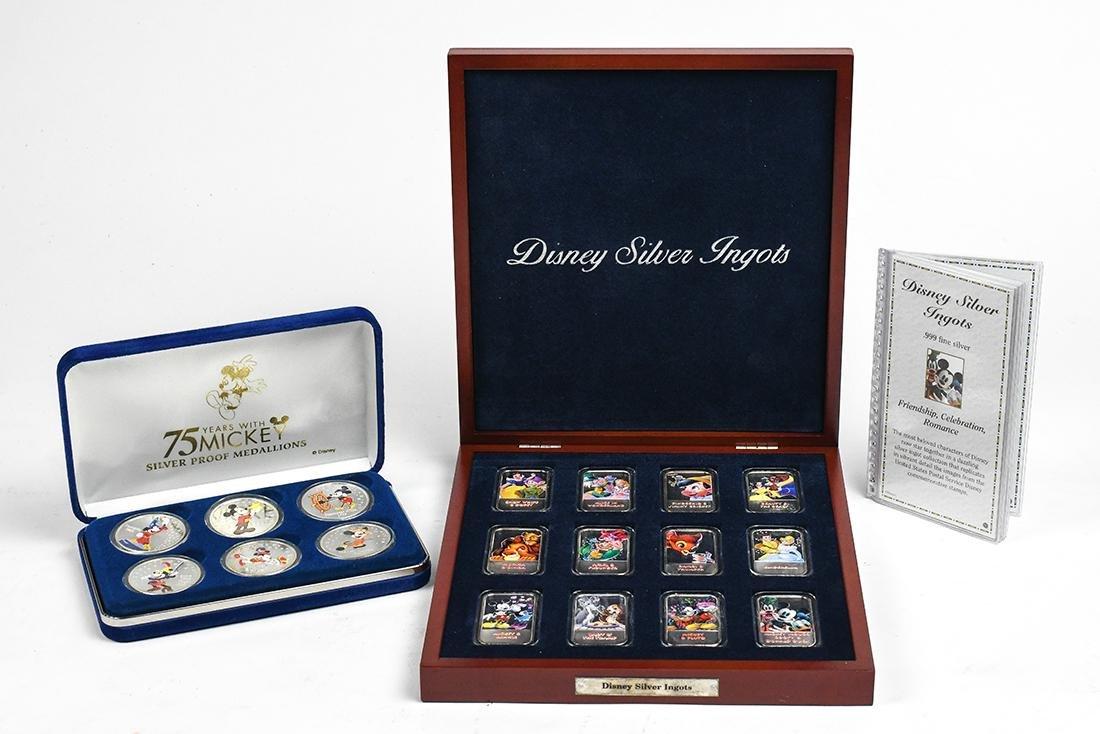 (lot of 18) Disney silver ingots