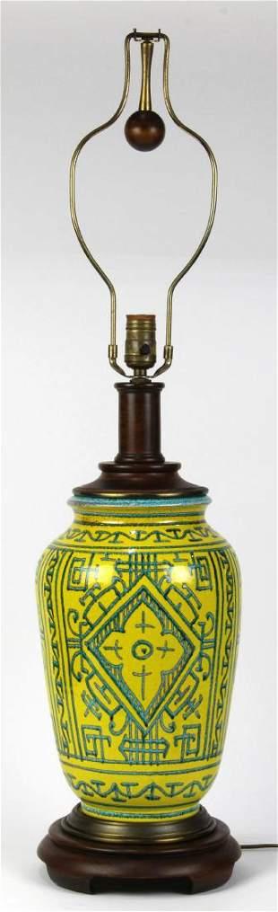 Paul Hanson ceramic table lamp