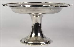 Chinese export sterling compote marked Fang Jiu