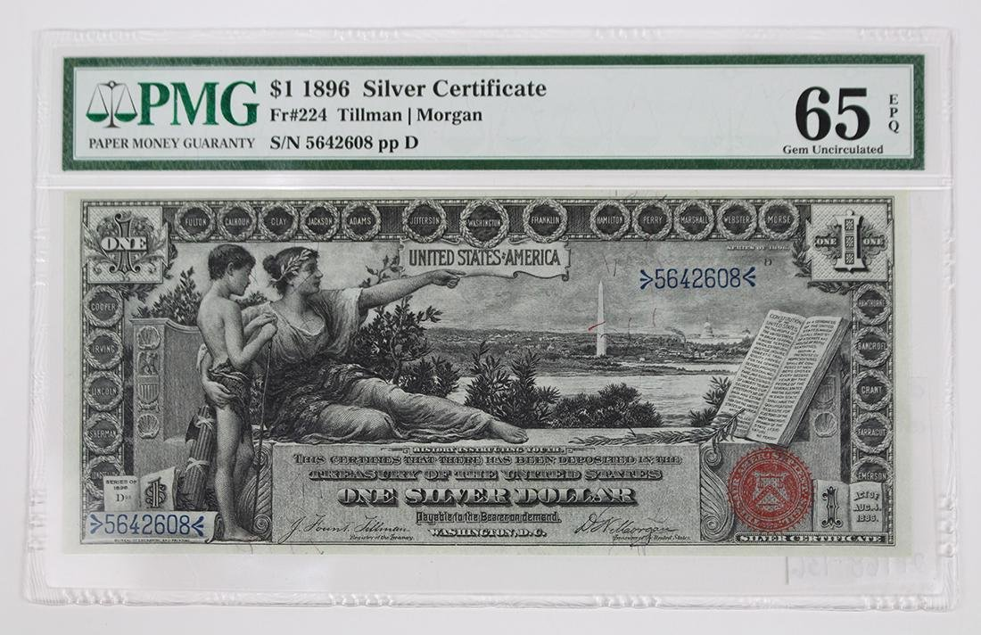 United States $1 1896 Silver Certificate Educational