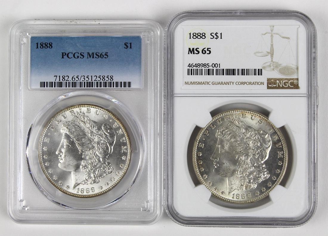 United States 1888 Morgan silver dollars