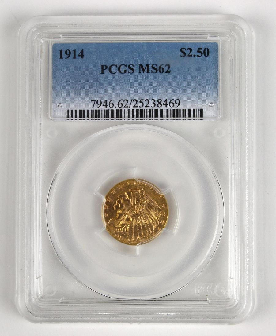 United States 1914 $2.50 Pratt-Bigelow gold coin