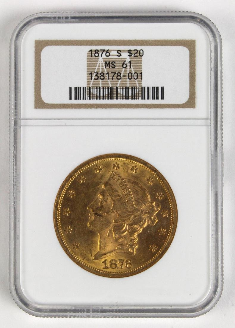 United States 1876 $20 Liberty gold coin