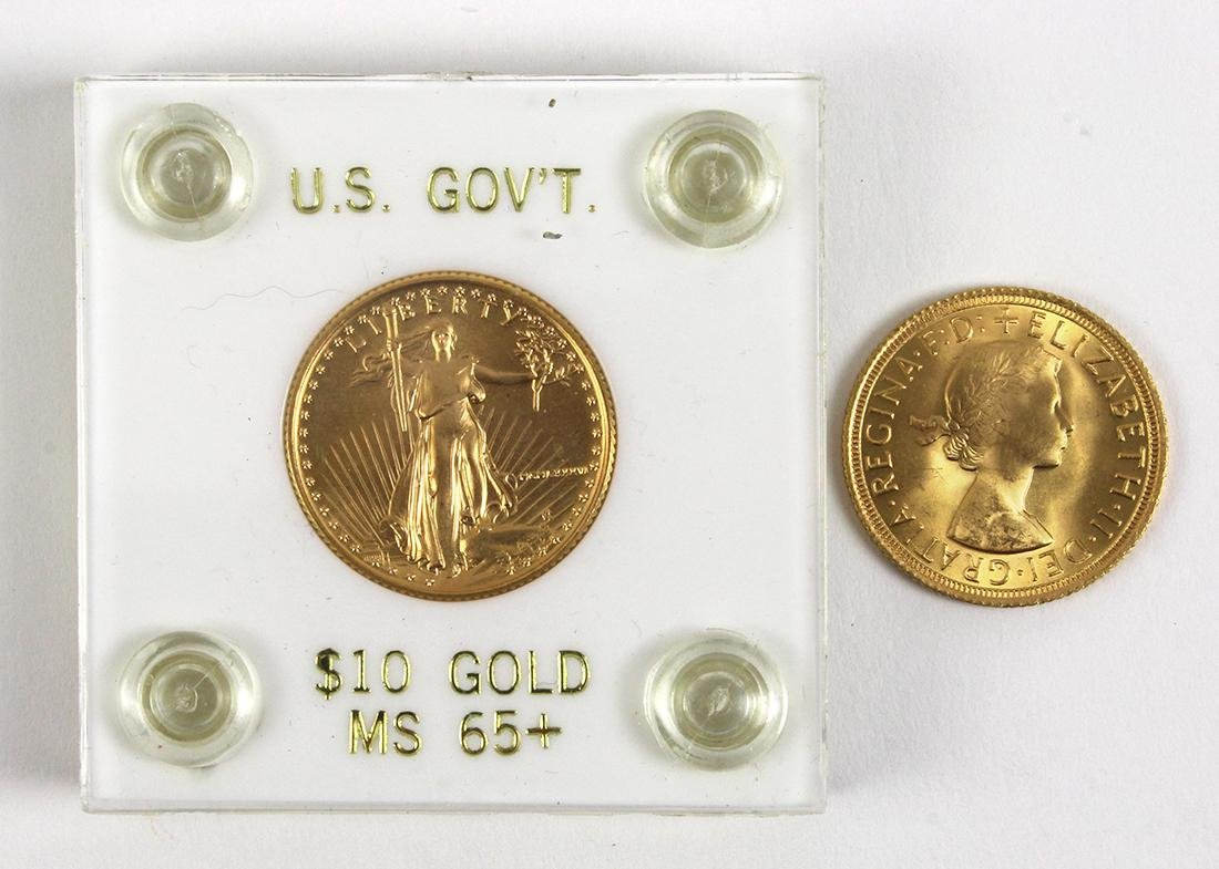 United States 1986 limited edition $10 gold eagle coin