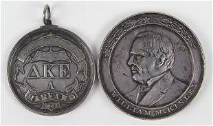 Silver medal group consisting of a Harvard Fraternity