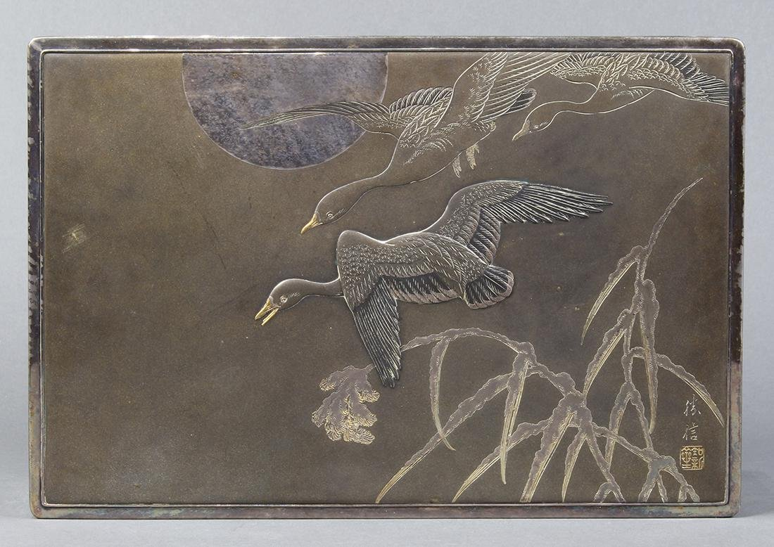 Japanese Silver Box, Early 20c