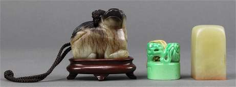 Chinese Jade Toggle and Seals