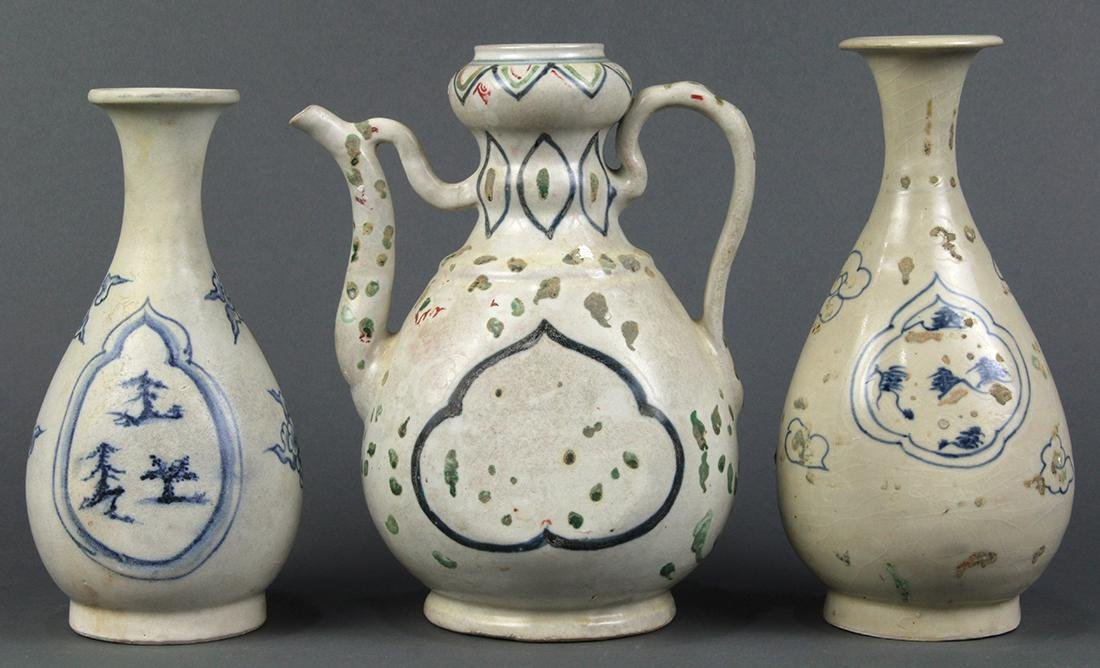 Vietnamese Blue-and-White Vases/Ewer