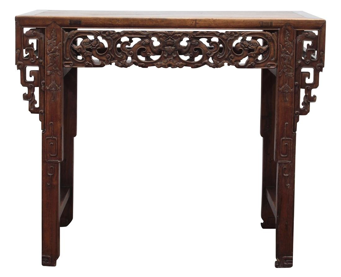 Chinese Altar Table, Dragon/Bats