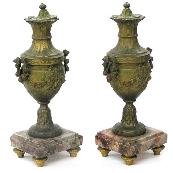 4010: Pair of Victorian urns