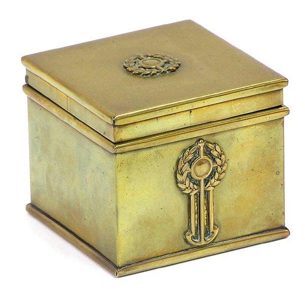 4011: Victorian brass inkwell