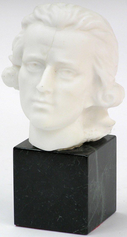 4023: Cast parian bust 18th century figure