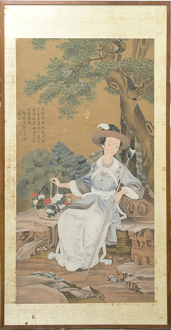4483: Chinese Painting, European Dress, Qing