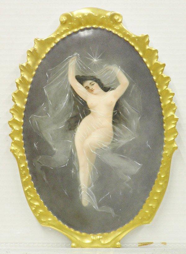 6001: Porcelain plaque, Nude, Limoges
