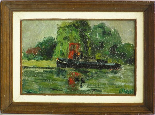 6008: Painting, Boat, Abstract