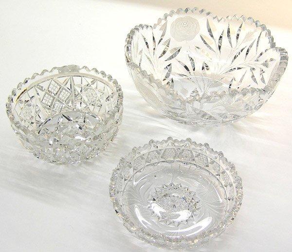 6017: Cut glass bowls, Irving fruit bowl