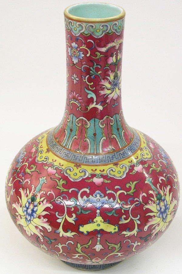 6501: Chinese Polychrome Enameled Vase