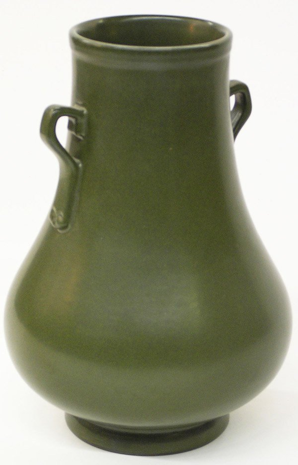 6511: Chinese Tea Dust Glazed Ovoid Vase
