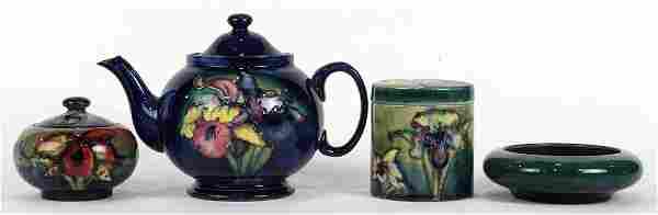 (lot of 4) Moorcroft ceramic group