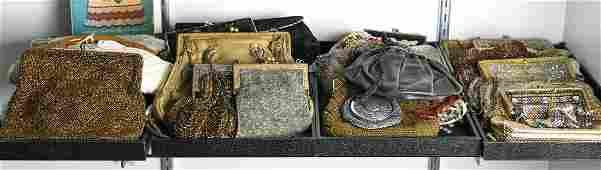 (lot of 33) Ladies evening handbag group, consisting of
