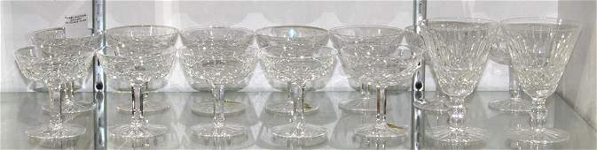 (lot of 14) Waterford cut crystal stemware group,
