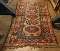 """Antique Caucasian carpet, 6'7"""" x 3'2"""""""