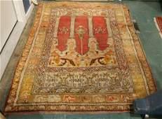 "Turkish Kula Prayer carpet, 3'11"" x 5'4"""