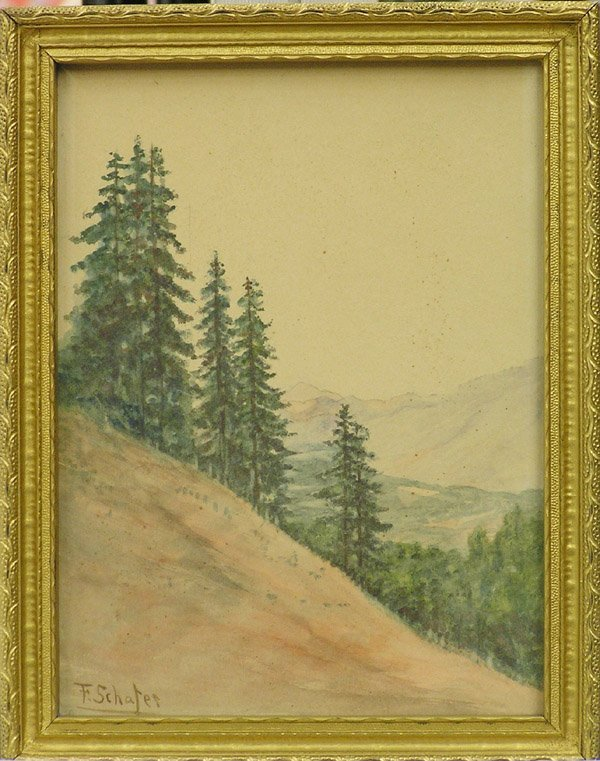2002: watercolor, F. Schafer, Californian