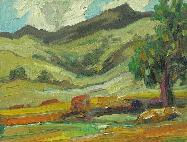 2013: Lundy Siegriest Cows Landscape Oil