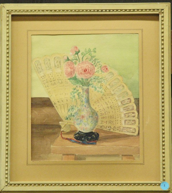 2: Watercolor fan rose