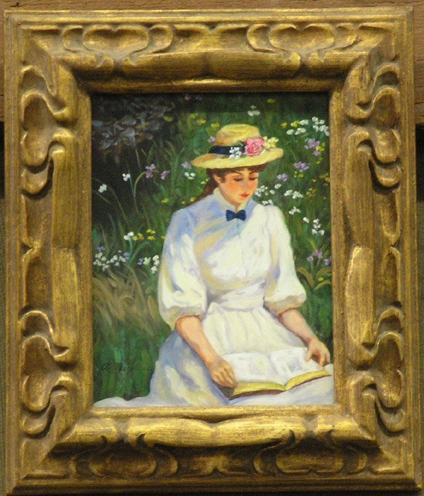 7: Oil painting Ada Nicolai Girl Reading