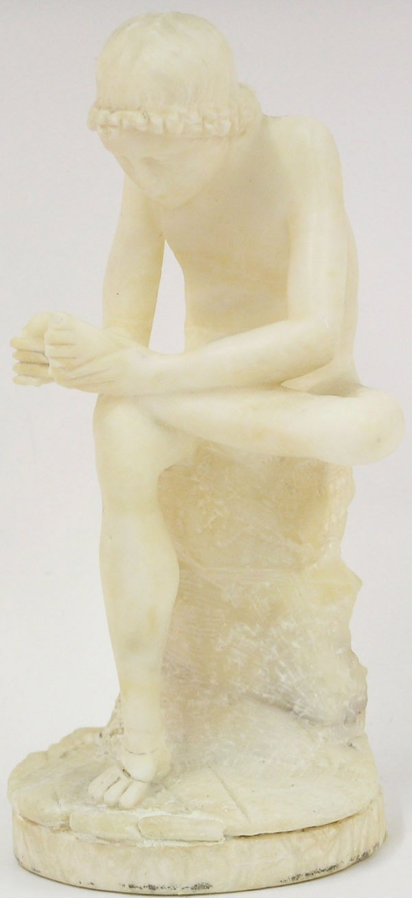 14: Marble statue, Thorn Picker