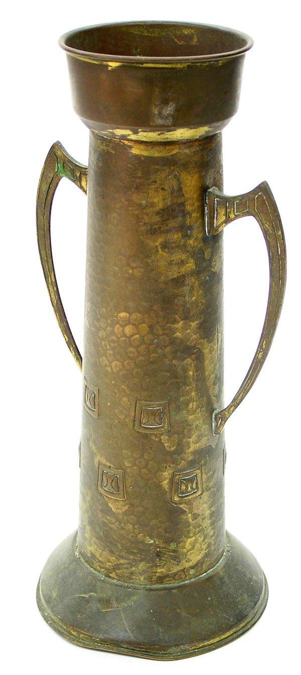 22: German Jugenstil shell art vase