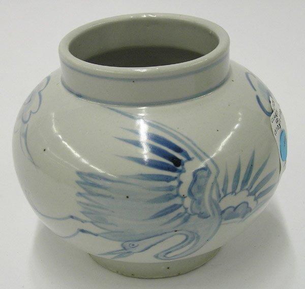 108: Korean Underglaze Blue Ovoid Jar