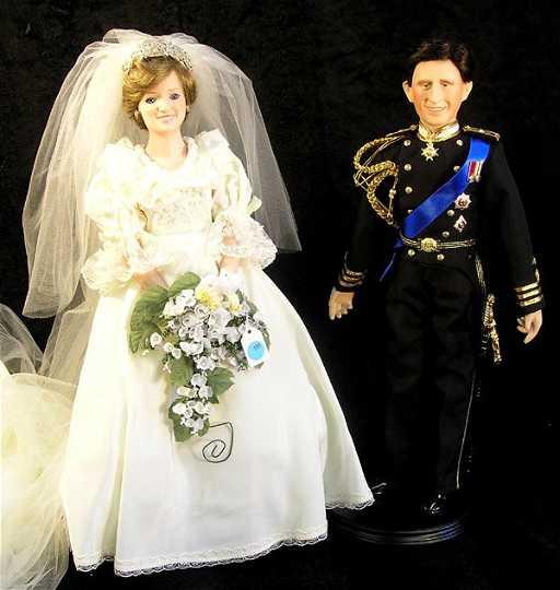 164: Danbury Mint Princess Diana bride doll