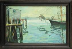 371: oil canvas Boat Hull contemporary
