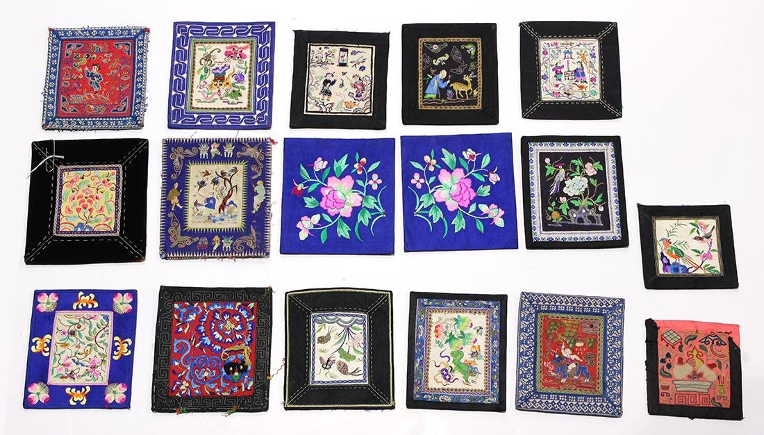 Chinese Small Embroidered Fragments