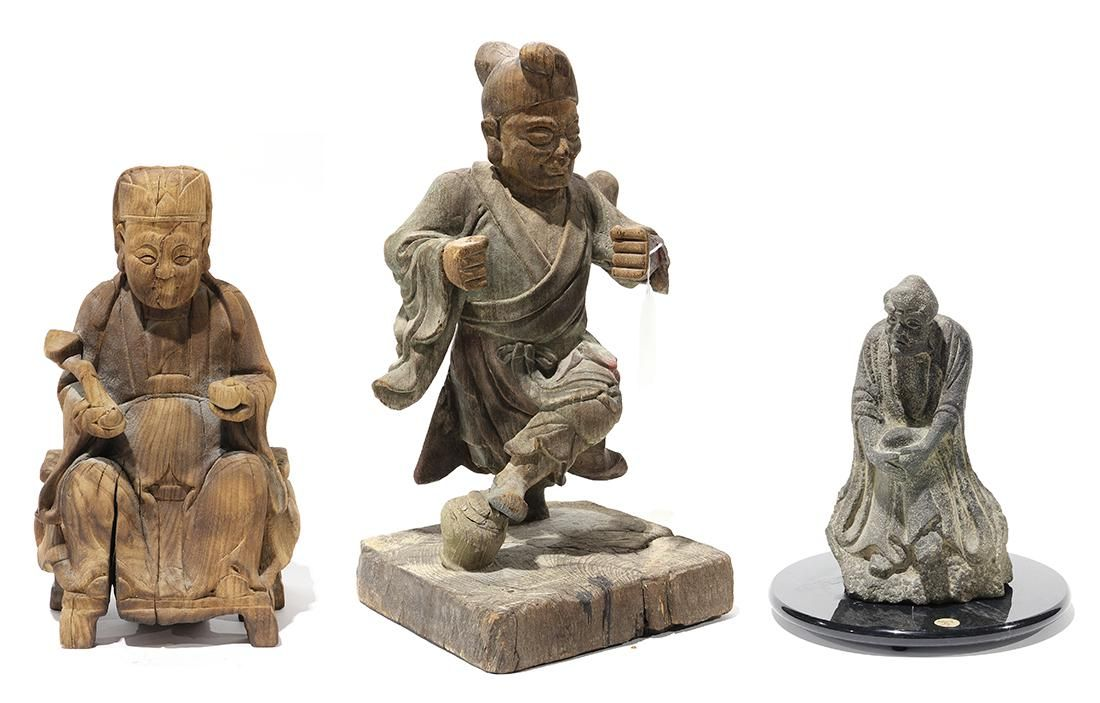 Chinese Wood and Stone Figures