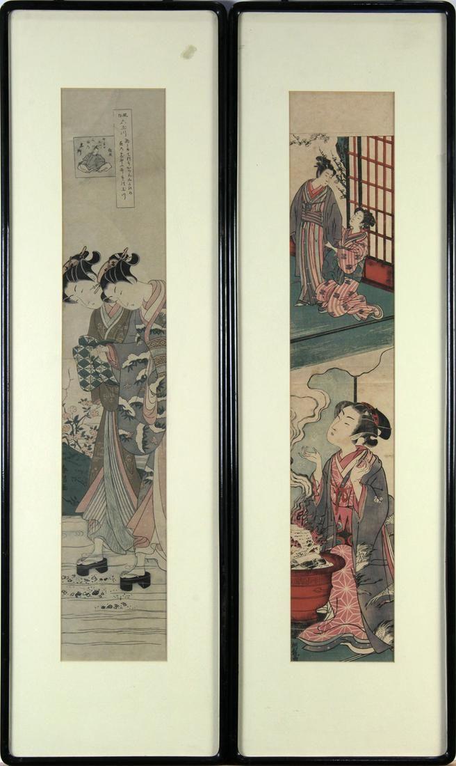 Japanese Woodblock Print, painting,Koryusai, Harunobu