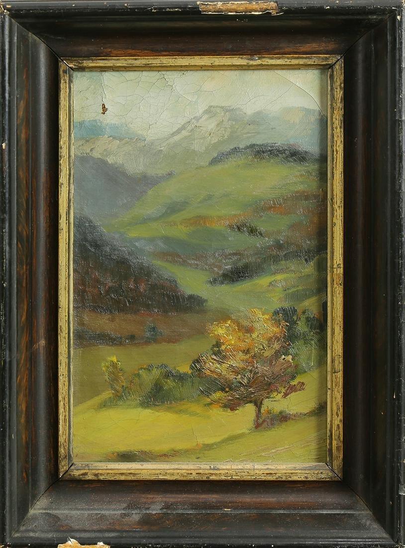 Painting, Autumn Mountain Landscape